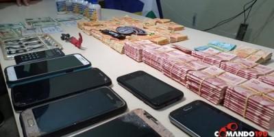 PM fecha mini laboratório de falsificação de dinheiro e apreende mais de R$ 30 mil reais em cédulas falsas, em Ji-Paraná