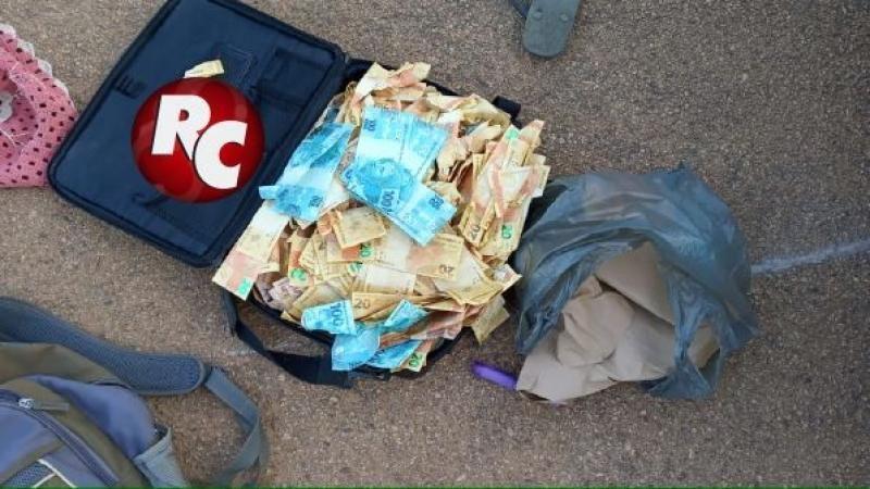 PM prende individuo com drogas e mais de 40 mil reais em notas falsas, em São Miguel do Guaporé