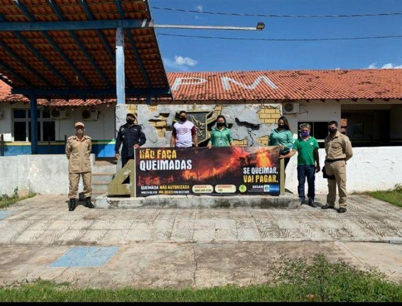Policia Militar apoia campanha contra queimadas, em Cacoal