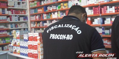Procon de Rondônia realiza operação Corona, fiscalizando farmácias e drogarias de Rolim de Moura