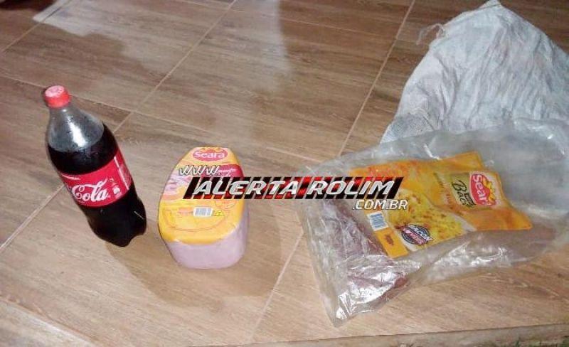 Suspeito de praticar furto é preso em flagrante por equipe de Radiopatrulha da Polícia Militar, em Rolim de Moura