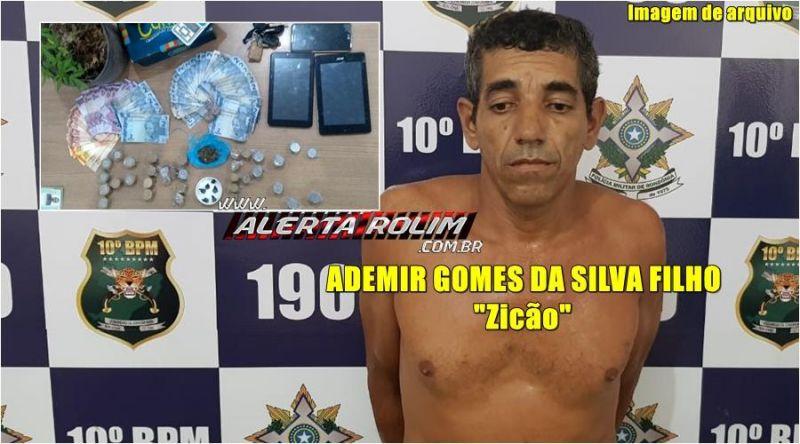 Traficante é preso durante trabalho em conjunto realizado pela Polícia Militar e Polícia Civil, em Rolim de Moura
