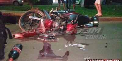 Acidente trânsito envolvendo duas motos resulta em dois feridos, em Rolim de Moura – Vídeo