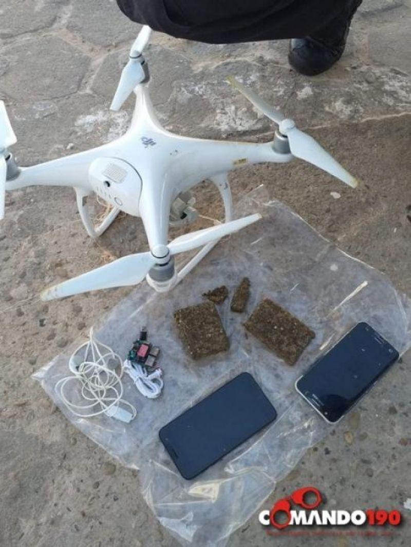 Drone, carregado com celulares e droga, é abatido ao sobrevoar presídio, em Jí-Paraná