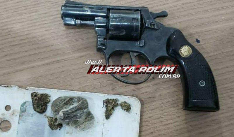 Arma de fogo é encontrada pela PM, após suspeito fugir de abordagem policial, em Rolim de Moura