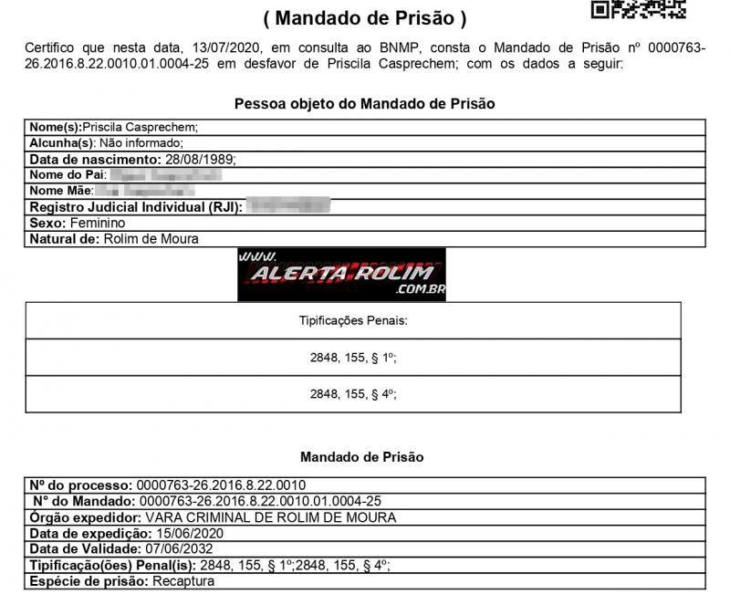 Acusada de furto é presa pela Polícia Militar, em Rolim de Moura