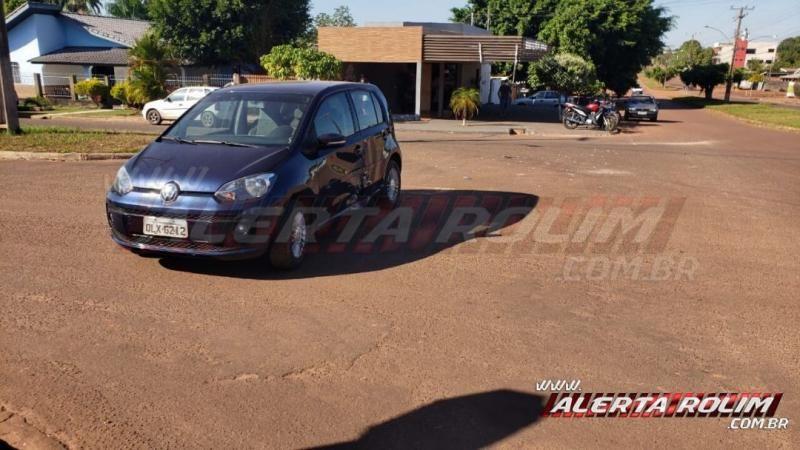 Colisão entre dois veículos é registrada no Centro de Rolim de Moura – Vídeo