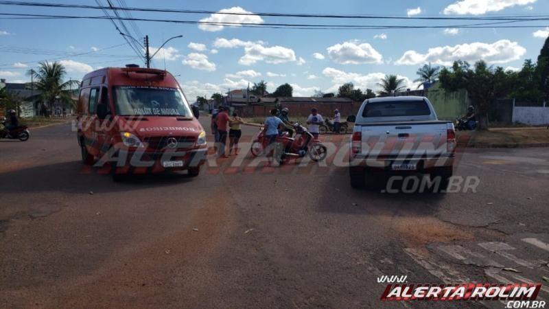 Bombeiros atendem acidente de trânsito na tarde deste sábado em Rolim de Moura