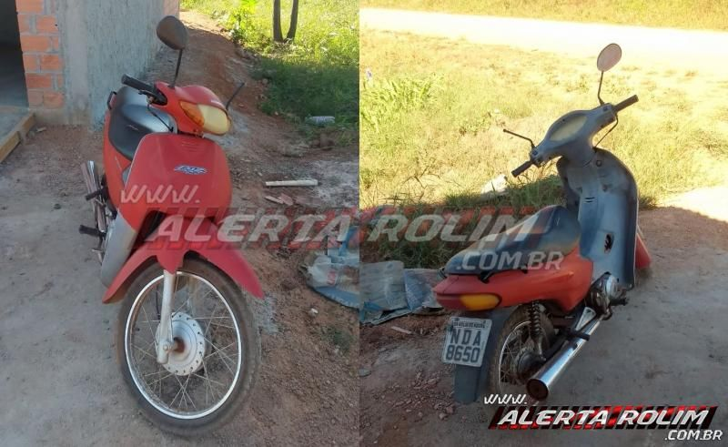 Moto furtada é recuperada pela PM do 10º Batalhão, em Rolim de Moura com a ajuda de denúncia anônima