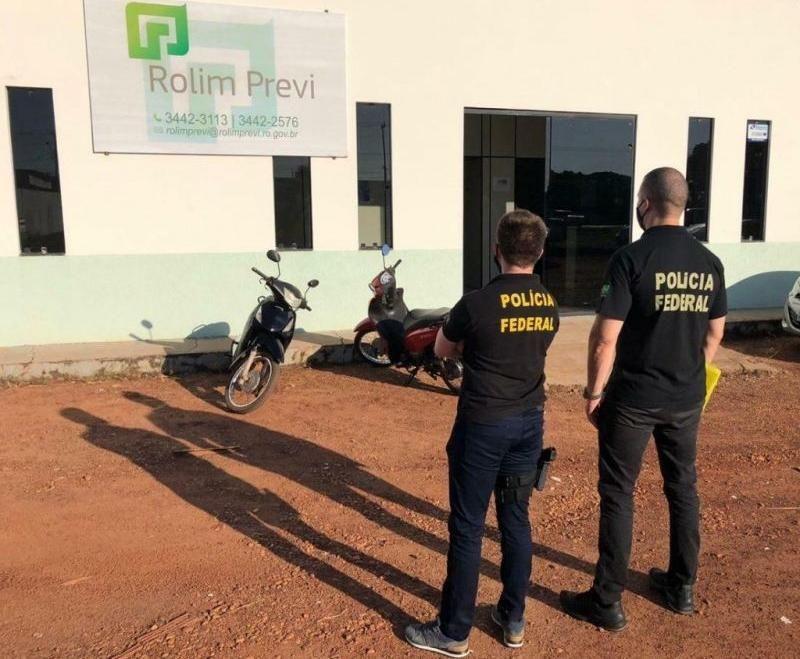 Polícia Federal realiza operação na Rolim Previ, em Rolim de Moura - Vídeo