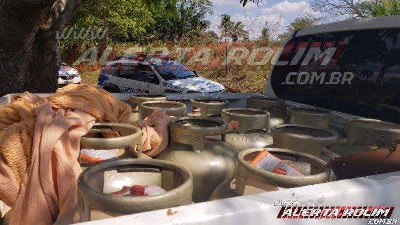 Polícia Militar realiza grande apreensão de produtos furtados e outros vários produtos de origem duvidosa, em Rolim de Moura