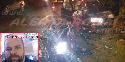 URGENTE – Policial Penal morre após grave colisão frontal entre carro e moto na RO-010, em Rolim de Moura