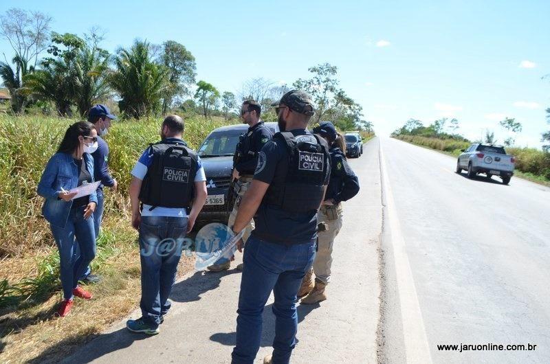 Principal suspeito de assassinar o jovem Guilherme é morto após trocar tiros com policiais civis na BR-364, em Jaru