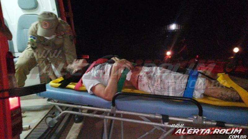 Rolim de Moura - Urgente! Homem é esfaqueado no bairro olímpico, nesta noite de sexta-feira