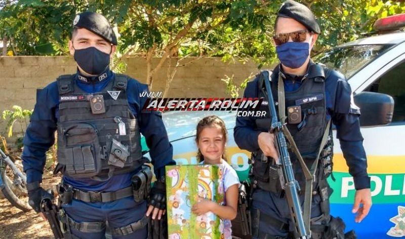 Singelo sonho de criança é realizado ao ter a presença da Polícia Militar em seu aniversário, em Migrantinópolis