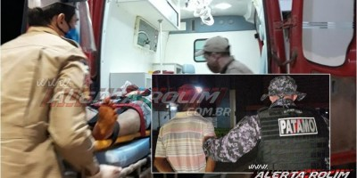 ATUALIZADA - Homem é esfaqueado durante discussão, em Rolim de Moura; dois suspeitos foram presos pela equipe do PATAMO da PM