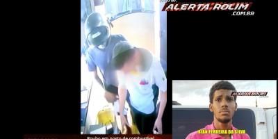 Após realizar roubo em Posto de combustível, suspeito acaba preso em flagrante pela Polícia Militar, em Nova Brasilândia – Vídeo