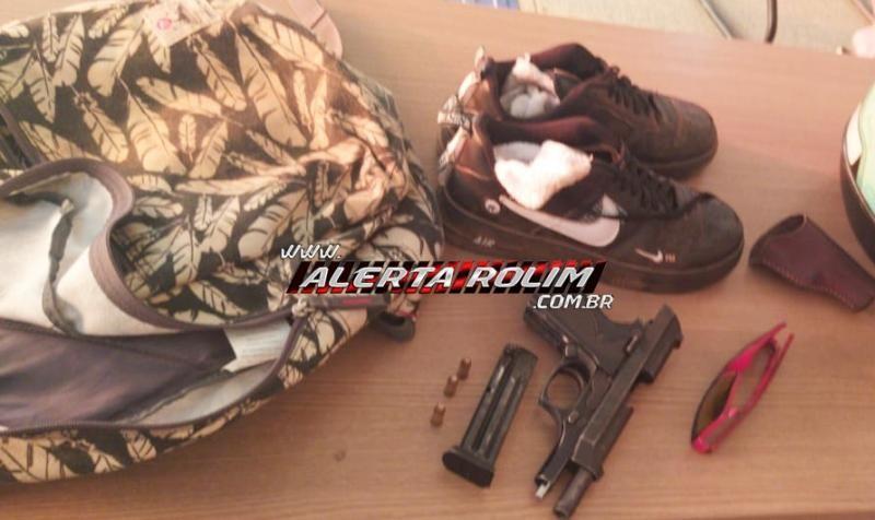 Após roubo à mão armada em comércio, PM age rápido e apreende autor do crime e recupera produtos roubados