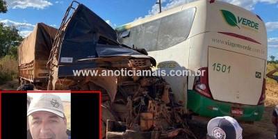 Carreteiro de Cacoal morre em grave colisão contra ônibus, no Pará