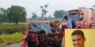 Colisão frontal entre dois carros resulta em vítima fatal, em Ouro Preto do Oeste