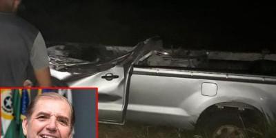 Empresário morre após bater caminhonete em árvore, em Cacoal