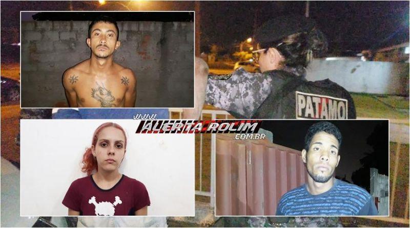 """Polícia Militar e Polícia Civil estouram """"Boca de Fumo"""" e três suspeitos de tráfico acabam presos, em Rolim de Moura - Vídeo"""