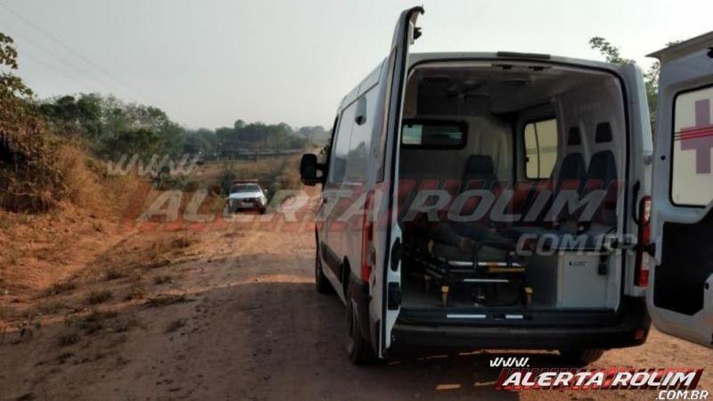URGENTE - Motociclista foi a óbito e outro ficou gravemente ferido, após acidente na zona rural de Santa Luzia