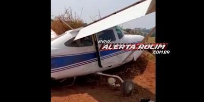 URGENTE - Avião carregado com drogas faz pouso forçado, em Cacoal - Vídeo
