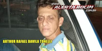 Acusado de praticar roubo a idosa de 78 anos em Santa Luzia é preso pela PM, em Rolim de Moura