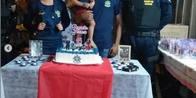 Adolescente que sonha em ser policial militar recebe surpresa em aniversário de 15 anos, em Novo Horizonte do Oeste