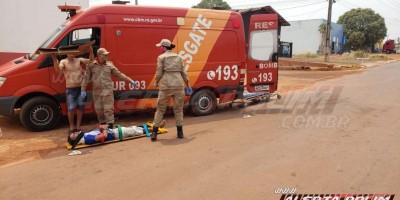 Após se envolver em acidente de trânsito, homem é conduzido à UNISP por ameaçar guarnição da PM, em Rolim de Moura