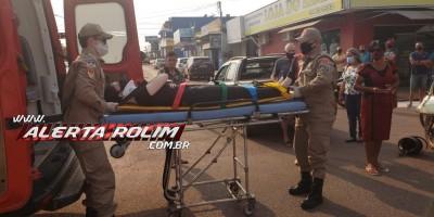 Colisão entre carro e moto é registrada nesta manhã, em Rolim de Moura