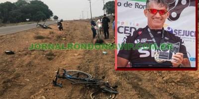 Empresário morre após ser atropelado durante ciclismo, em RO