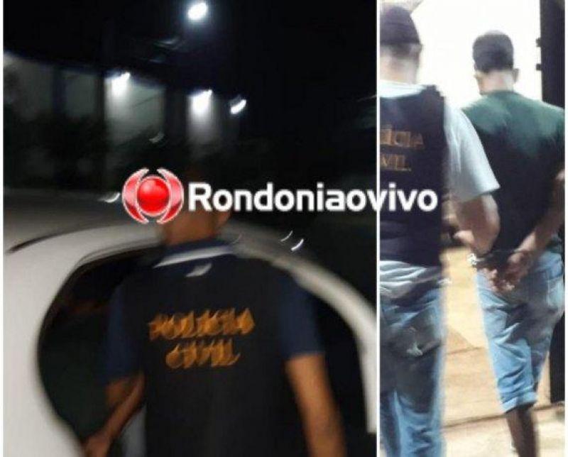 Homem é preso em Porto Velho por estuprar e engravidar a filha de 16 anos