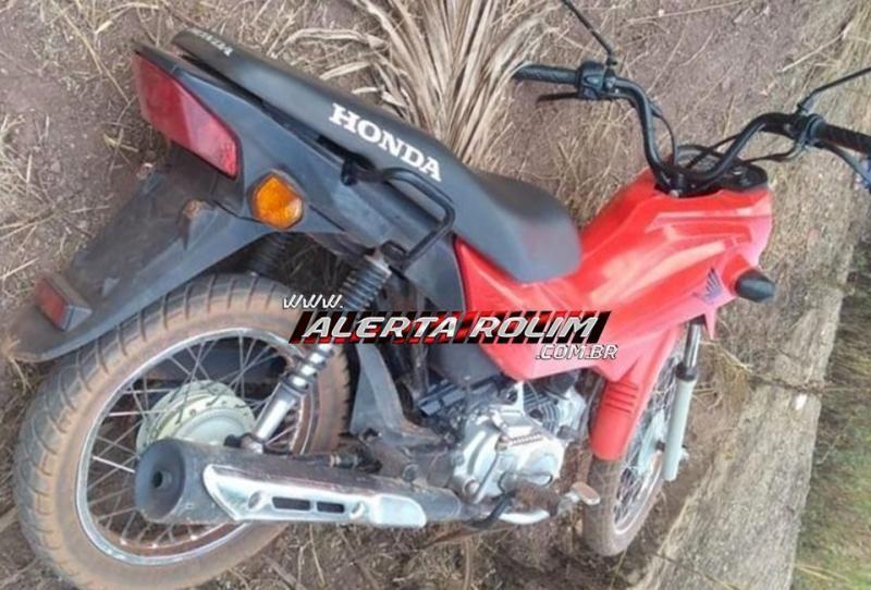 Menor é apreendido pela Polícia Militar, em Rolim de Moura com arma de fogo, munições e moto roubada