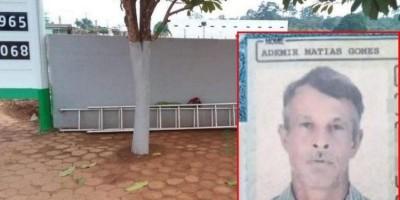Trabalhador morre ao cair de escada enquanto trocava lâmpadas, em São Miguel do Guaporé