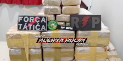 URGENTE - Mais de 100 kg de pasta base de cocaína são apreendidos pela Polícia Militar, durante a Operação Hórus, na região de Alta Floresta