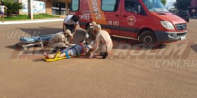 Acidente de trânsito com três vítimas é registrado nesta tarde de sexta-feira, em Rolim de Moura