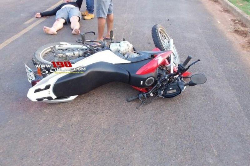 Acidente de trânsito entre duas motos deixa uma vítima fatal e outra gravemente ferida, em Alta Floresta