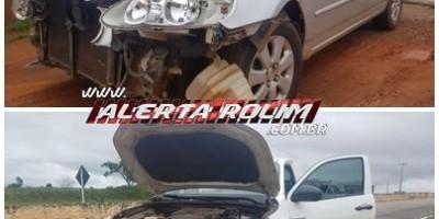 Dois veículos colidem na RO-383 nesta manhã de sexta-feira, em Rolim de Moura