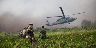 Helicóptero da Força Nacional que atuava no combate a queimadas cai