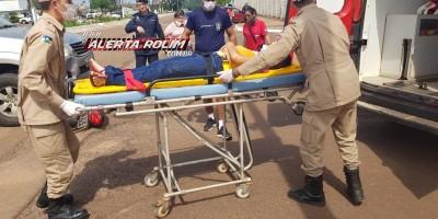 Mais um acidente de trânsito com vítima é registrado nesta terça-feira, em Rolim de Moura