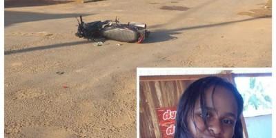 Mulher morre após ser atingida por caminhão leiteiro, em Machadinho do Oeste
