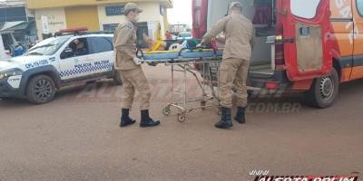 Terceiro acidente de trânsito com vítima nessa sexta-feira é registrado no Centro de Rolim de Moura
