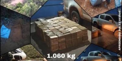 VÍDEO: ação conjunta de forças policiais apreende 1 tonelada de cocaína avaliada em R$ 26 milhões; carro e droga foram para Vilhena