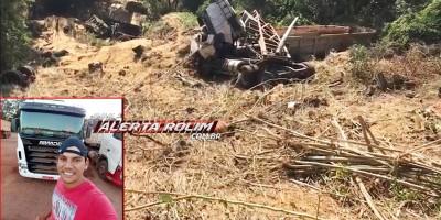 Caminhoneiro de Novo Horizonte do Oeste morre ao cair em ribanceira na Serra da Deciolândia, no Mato Grosso