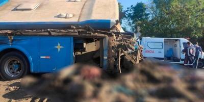 Colisão frontal entre ônibus e caminhão no interior de São Paulo deixa dezenas de mortos