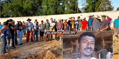 Familiares, amigos e colegas realizaram uma emocionante despedida à Maurício Gomes que foi a óbito, após acidente em Castanheiras