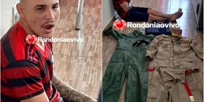 Furtos e Roubos prende foragido com arma, droga, colete balístico e farda do BM, em RO