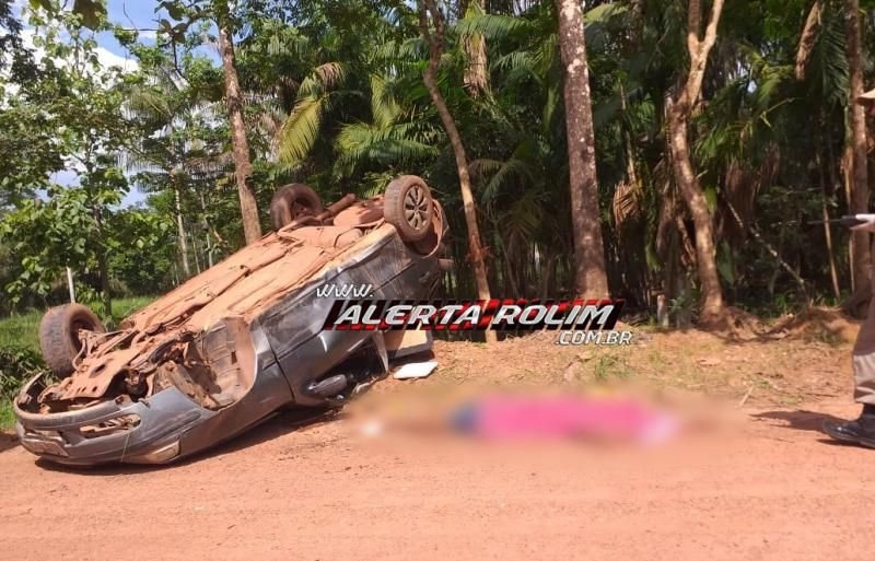 Motorista que capotou carro na linha 180 em Rolim de Moura, não resistiu e morreu após vários dias internado em Cacoal